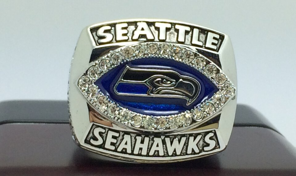 2005 Seattle Seahawks NFC super bowl championship ring size 8-14 copper solid