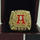 1992 Alabama Crimson SEC National Championship ring replica size 11 US