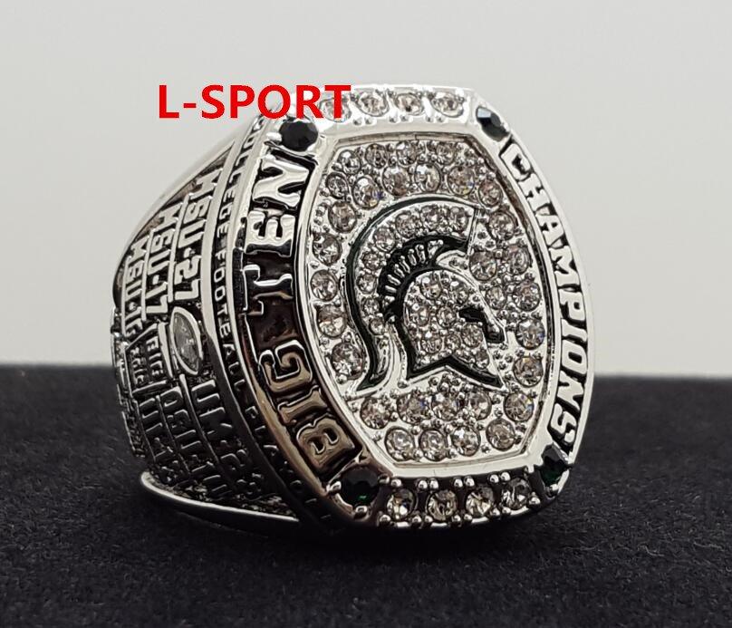 2016 Michigan State Spartans MSU big 10 Championship Ring 8-14S copper solid