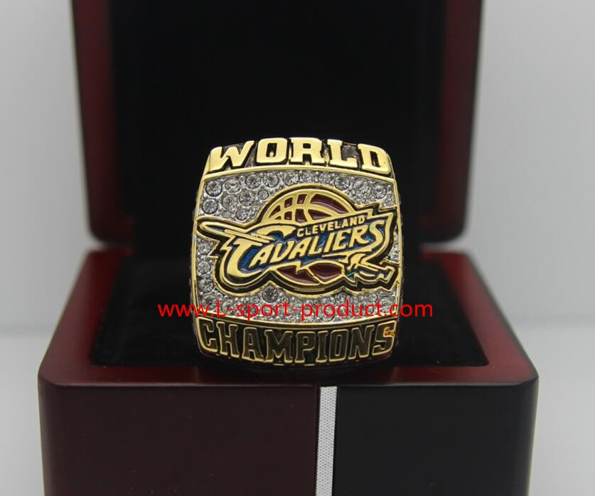 2016 Cleveland Cavaliers National Basketball Championship Ring 8-14Size with wooden case