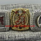 3 PCS 2015 2016 Alabama Crimson Tide  National Championship Ring 8-14S