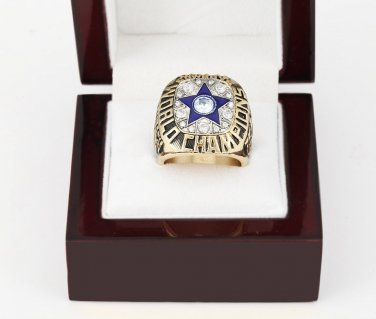 1971 Super bowl CHAMPIONSHIP RING Dallas Cowboys 10-13 size with wooden case