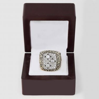 1978 Super bowl CHAMPIONSHIP RING Pittsburgh Steelers 10-13 size with wooden case