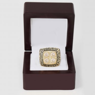 1979 Super bowl CHAMPIONSHIP RING Pittsburgh Steelers 10-13 size with wooden case