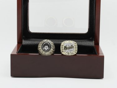 One Set 2 PCS 1970 1983 Baltimore Orioles World Series CHAMPIONSHIP RING 10-13 size +wooden case