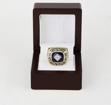 1984 EDMONTON OILERS NHL CHAMPIONSHIP RING 10-13 size +wooden case