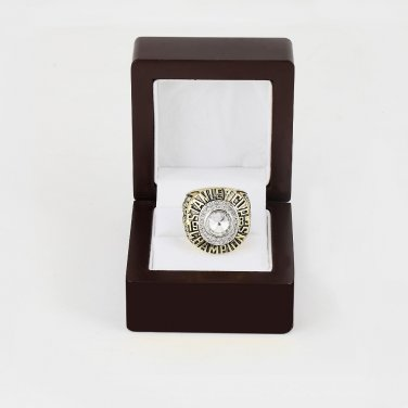 1985 EDMONTON OILERS NHL CHAMPIONSHIP RING 10-13 size +wooden case