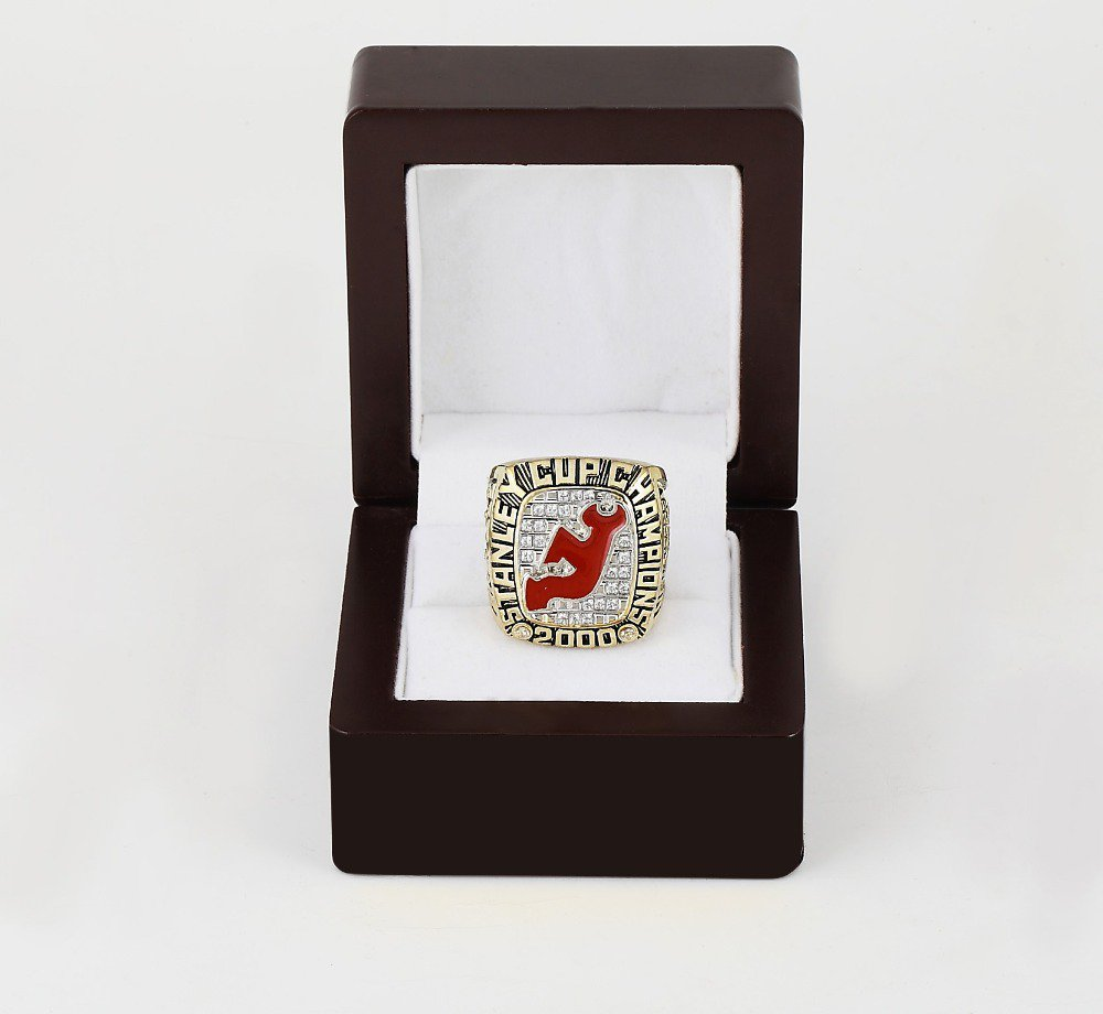 2000 New Jersey Devils NHL CHAMPIONSHIP RING 10-13 size +wooden case