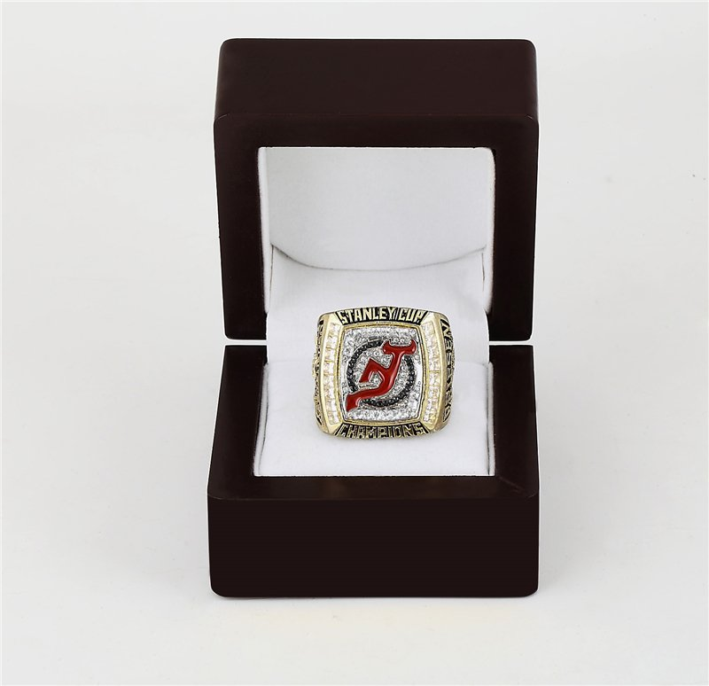 2003 New Jersey Devils NHL CHAMPIONSHIP RING 10-13 size +wooden case