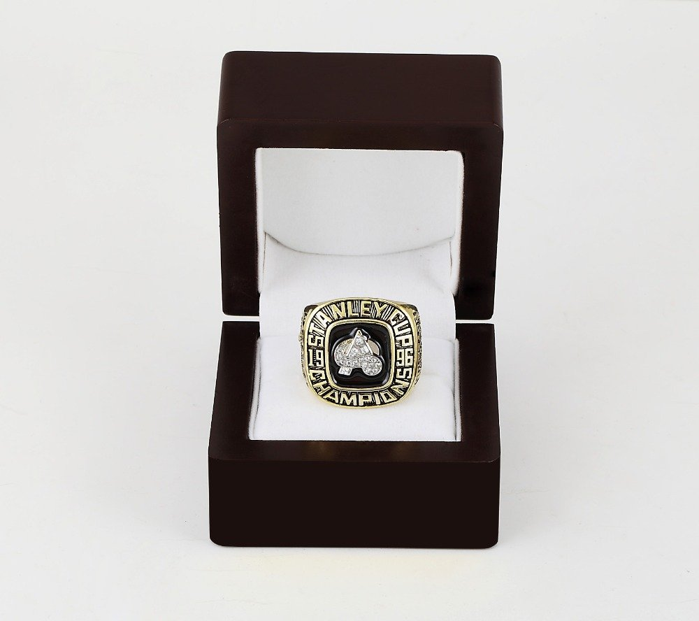 1996 COLORADO AVALANCHE NHL CHAMPIONSHIP RING 10-13 size +wooden case