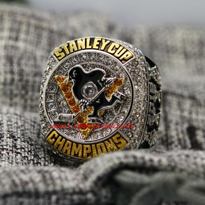 2016 Pittsburgh Penguins stanley cup championship ring 8-14 size CROSBY