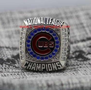 Ship today 2016 Chicago Cubs NL Championship ring 8-14S for MVP Bryant NO 17