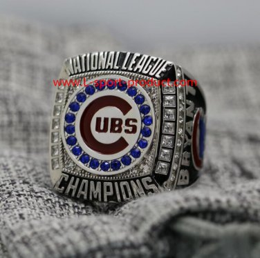 Ship today 2016 Chicago Cubs NL Championship ring 10S for MVP Bryant NO 17