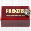 1966 Super bowl CHAMPIONSHIP RING Green Bay Packers 10-13 size with Logo wooden case
