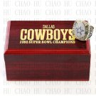 1992 Super bowl CHAMPIONSHIP RING Dallas Cowboys 10-13 size with Logo wooden case