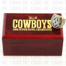 1993 Super bowl CHAMPIONSHIP RING Dallas Cowboys 10-13 size with Logo wooden case