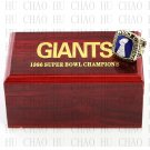 1986 Super bowl CHAMPIONSHIP RING New York Giants 10-13 size with Logo wooden case