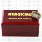 1987 Super bowl CHAMPIONSHIP RING Washington Redskins 10-13 size with Logo wooden case