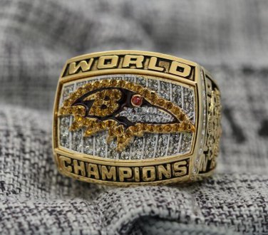 2000 Baltimore Ravens Super bowl XXXV CHAMPIONSHIP RING  8-14 size NIB