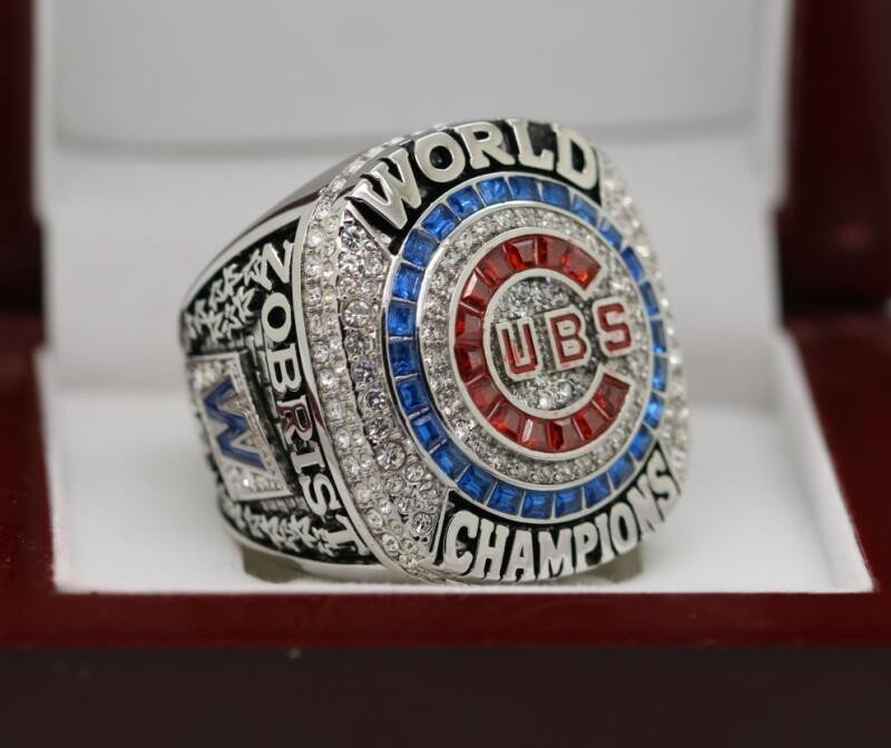 FOR MVP ZOBRIST 2016 Chicago Cubs MLB world seire Championship Ring 14 Size
