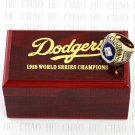TEAM LOGO WOODEN CASE 1988 LOS ANGELES DODGERS World Series CHAMPIONSHIP RING 10-13S