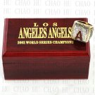 TEAM LOGO WOODEN CASE 2002 LOS ANGELES ANGELS World Series CHAMPIONSHIP RING 10-13S
