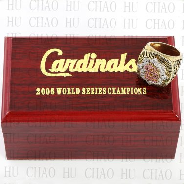 TEAM LOGO WOODEN CASE 2006 St. Louis Cardinals World Series CHAMPIONSHIP RING 10-13S