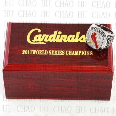 TEAM LOGO WOODEN CASE 2011 St. Louis Cardinals World Series CHAMPIONSHIP RING 10-13S