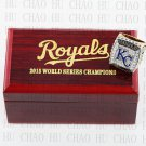 TEAM LOGO WOODEN CASE 2015 Kansas city royals World Series CHAMPIONSHIP RING 10-13S