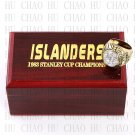TEAM LOGO WOODEN CASE 1983 New York Islanders Hockey Championship Ring 10-13S