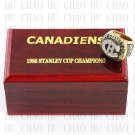 TEAM LOGO WOODEN CASE 1986 Montreal Canadiens Hockey Championship Ring 10-13S