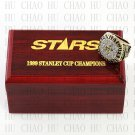 TEAM LOGO WOODEN CASE 1999 Dallas Stars Hockey Championship Ring 10-13S