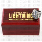 TEAM LOGO WOODEN CASE 2004 Tampa Bay LIGHTNING Hockey Championship Ring 10-13S