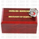 TEAM LOGO WOODEN CASE 2006 Carolina Hurricanes Hockey Championship Ring 10-13S