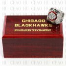 TEAM LOGO WOODEN CASE 2013 Chicago Blackhawks Hockey Championship Ring 10-13S