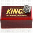 TEAM LOGO WOODEN CASE 2014 Los Angeles La Kings Hockey Championship Ring 10-13S