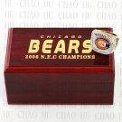 TEAM LOGO WOODEN CASE 2006 Chicago Bears NFC Football world Championship Ring 10-13S