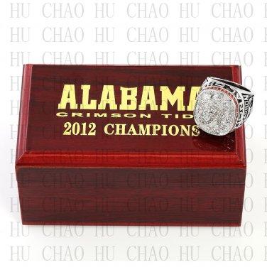 TEAM LOGO WOODEN CASE 2012 Alabama Crimson Tide NCAA Football world Championship Ring 10-13S