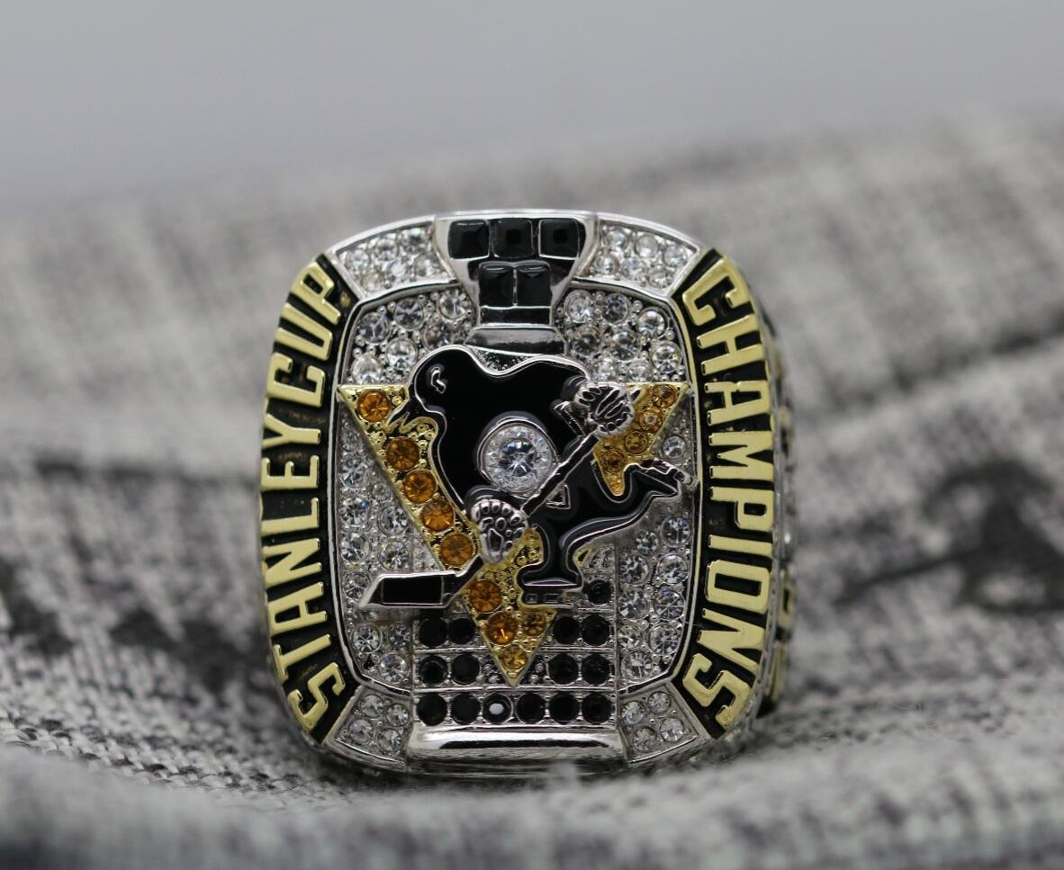 2017 Pittsburgh Penguins stanley cup championship ring 8-14 size CROSBY