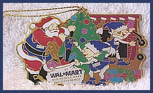 Santa and Elves Walmart Christmas Tree Ornament