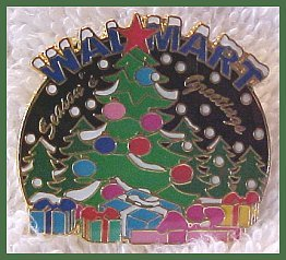 Walmart Seasons Greetings Christmas Tree Lapel Pin