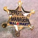 Department Manager Gold Star Walmart Lapel Pin