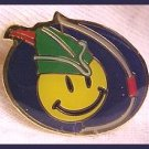 Robin Hood Smiley with Bow Walmart Lapel Pin
