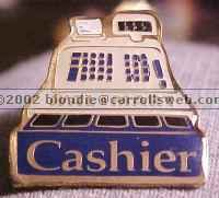 Cashier Cash Register Walmart Lapel Pin