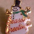 Season's Greetings Snowman Walmart Lapel Pin