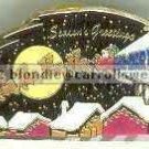 Season's Greetings Semi Truck Walmart Christmas Pin