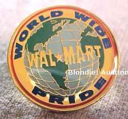 World Wide Pride Map Walmart Lapel Pin