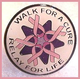 Walk for a Cure Walmart Lapel Pin