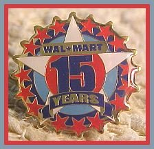 15 Year Walmart Associate Star Lapel Pin