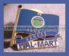 Kansas State Flag Walmart Lapel Pin